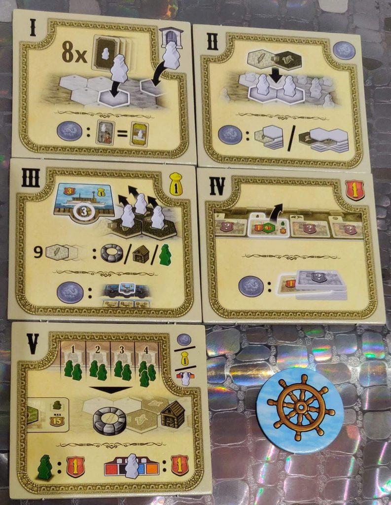 Riverboat: Losetas de fase y marcador de jugador inicial