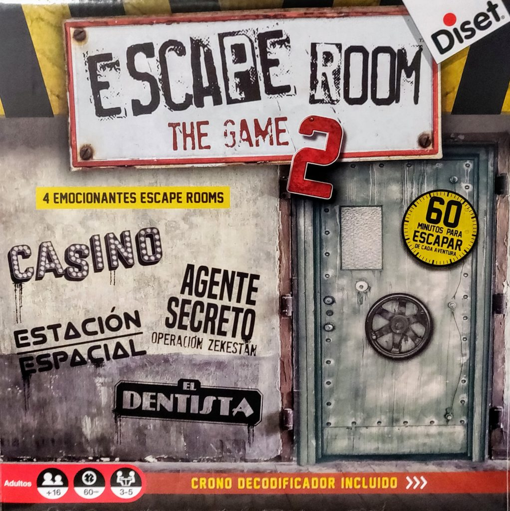 Portada de la caja de Escape Room: The Game 2