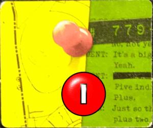 Ficha de evidencia multicolor amarilla y verde