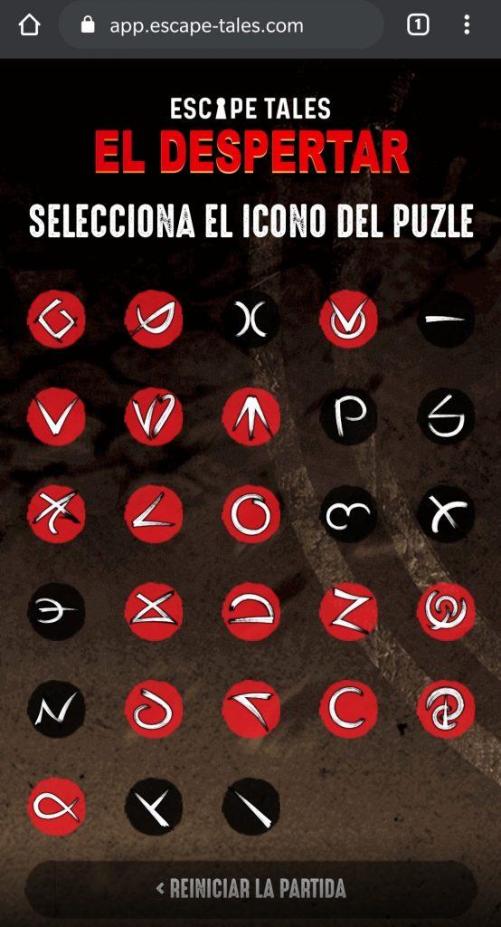 """Aplicación de """"Escape Tales: El Despertar"""""""