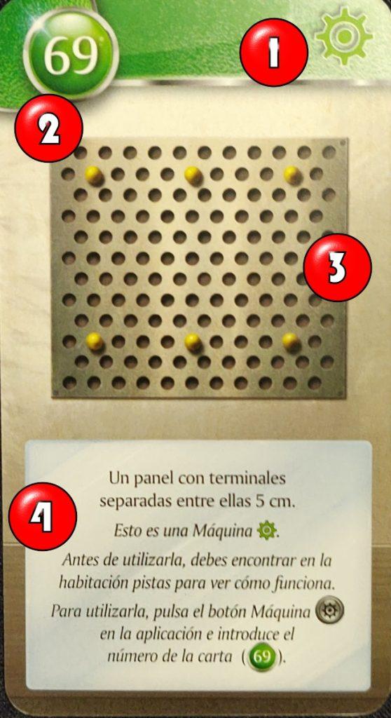 Explicación de carta de máquina