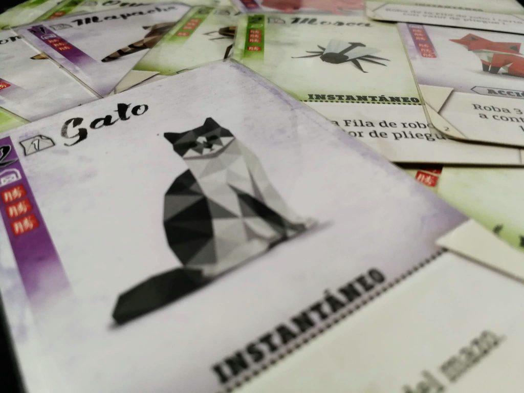 Collage de cartas de Origami