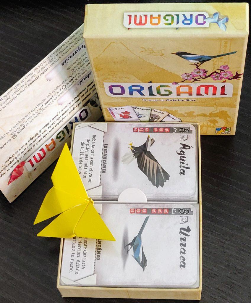 Contenido de la caja de Origami