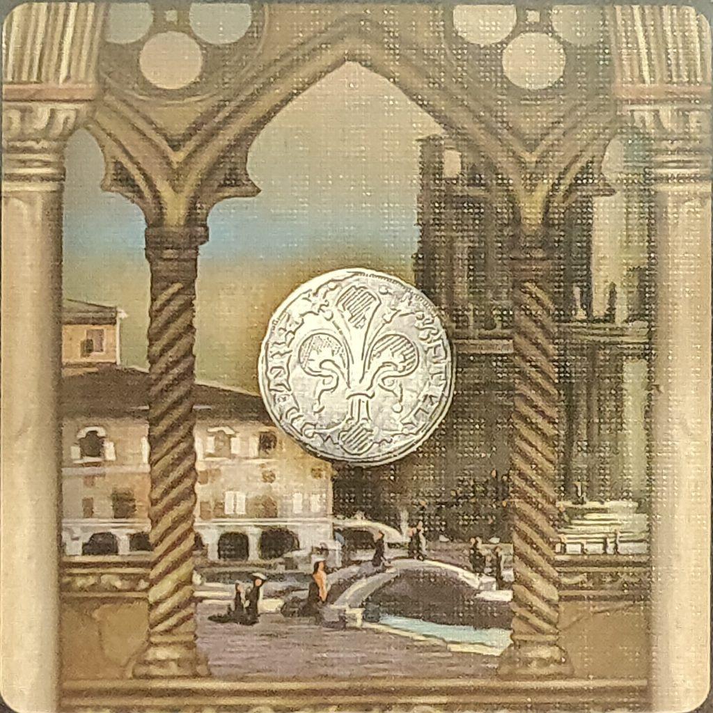 Carta de palacio para moneda