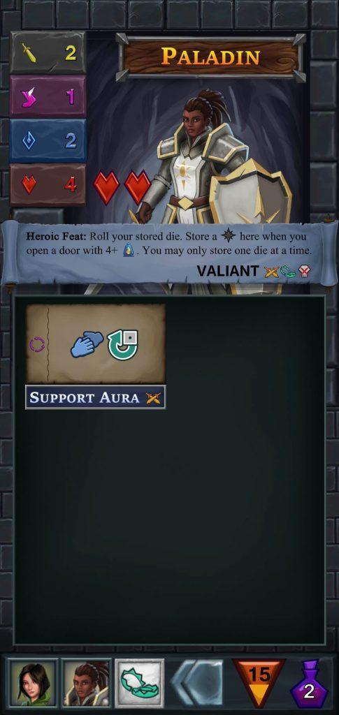 Ficha de héroe de One Deck Dungeon