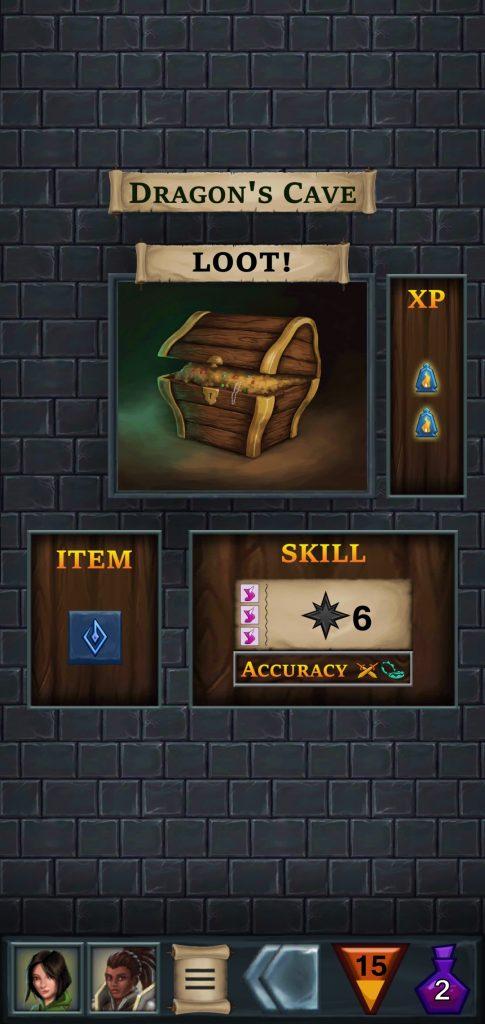 Botín de One Deck Dungeon