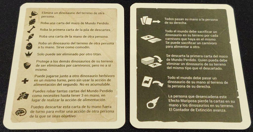 Cartas de ayuda de ¡Extinción!