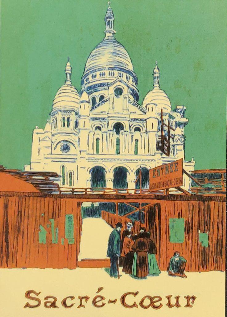 Ilustración de una postal