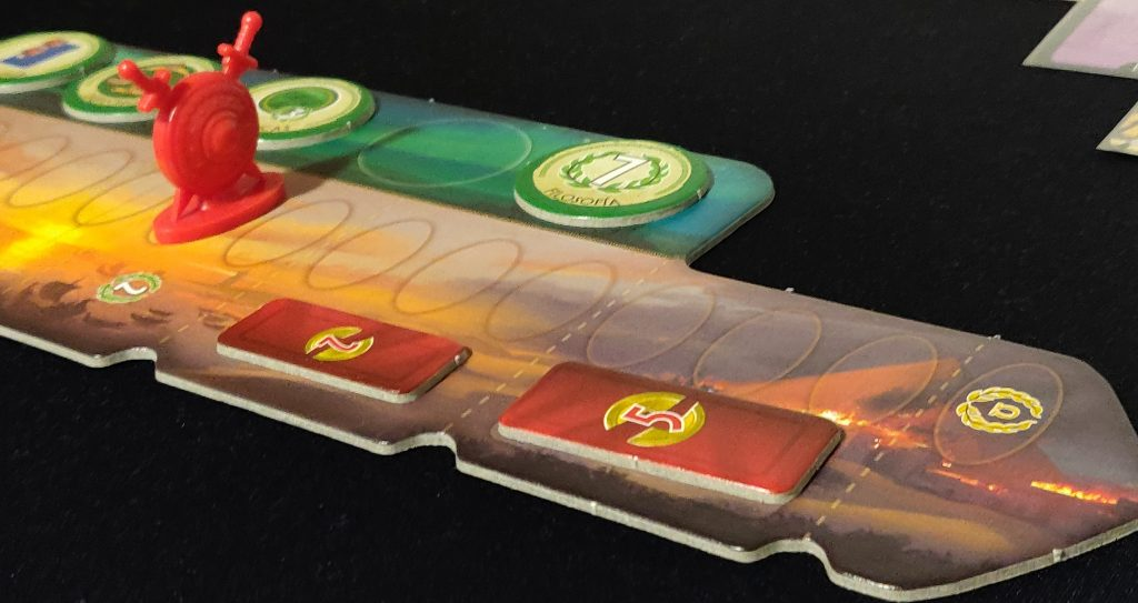 Perspectiva del tablero de 7 Wonders Duel