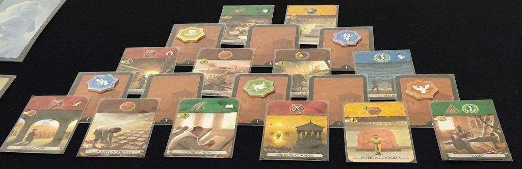 Estructura cartas de era I de 7 Wonders Duel: Pantheon