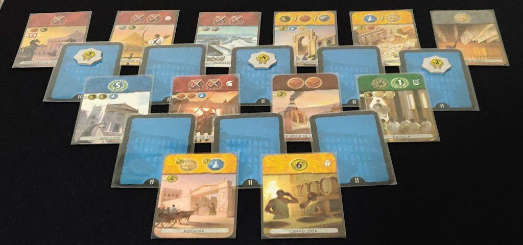 Estructura cartas era II de 7 Wonders Duel: Pantheon