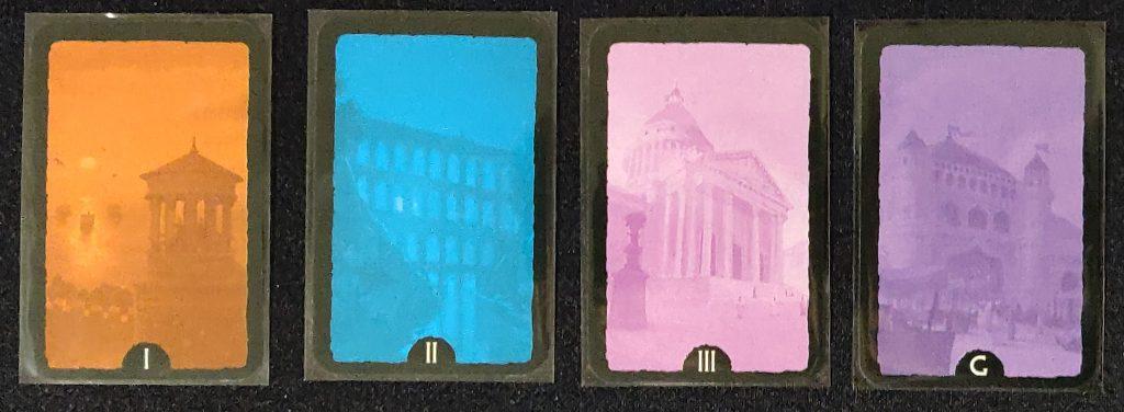 Trasera de las cartas de 7 Wonders Duel