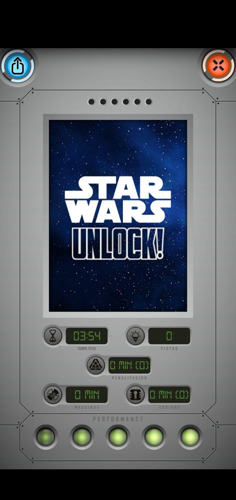 Final de tutorial de Star Wars: Escape Game