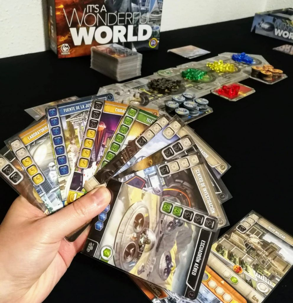 Mano de cartas de It's a Wonderful World